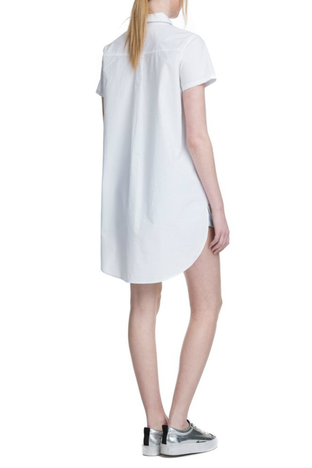 After Market White Yoke Shirtdress - Front Full Image