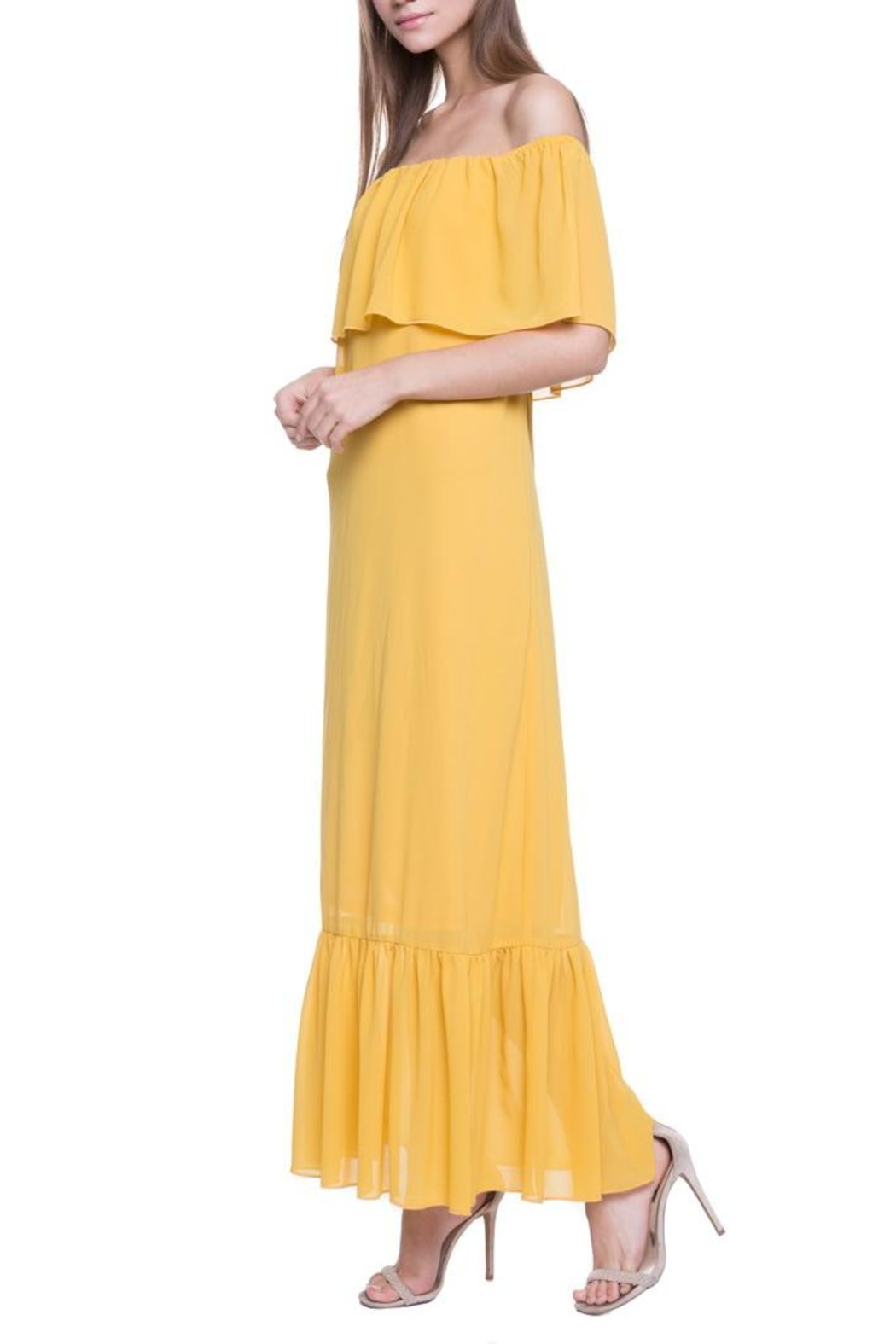 After Market Yellow Maxi Dress - Front Full Image