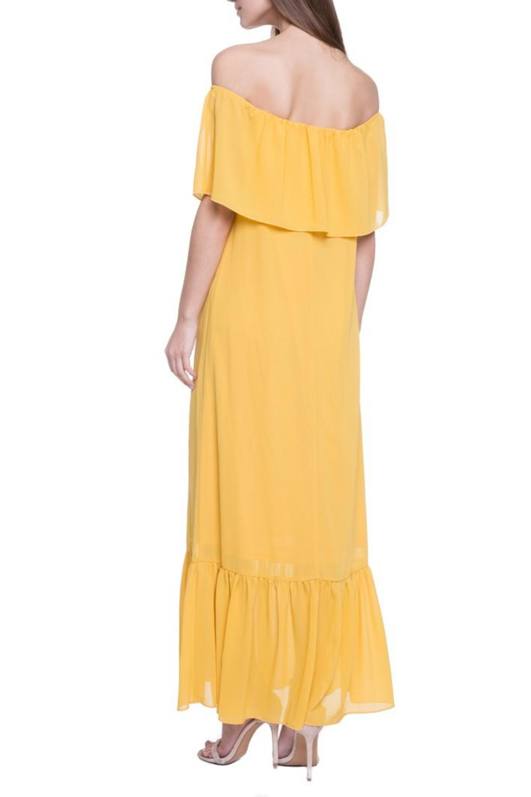 After Market Yellow Maxi Dress - Back Cropped Image