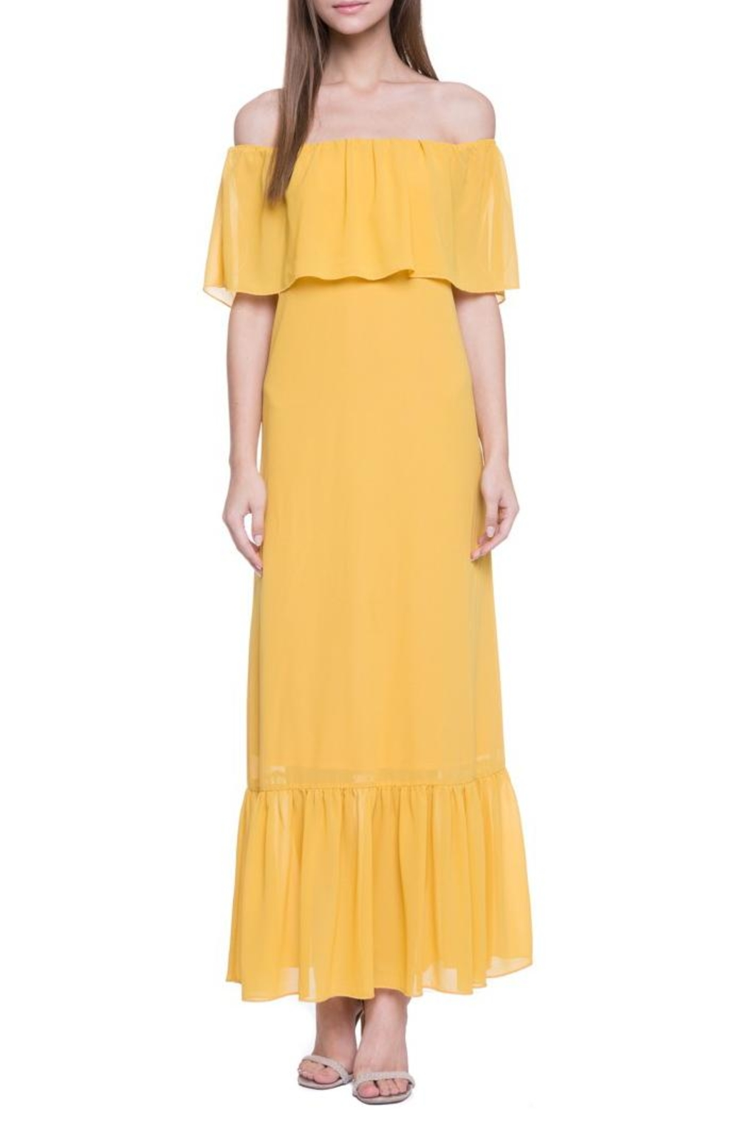 After Market Yellow Maxi Dress - Side Cropped Image