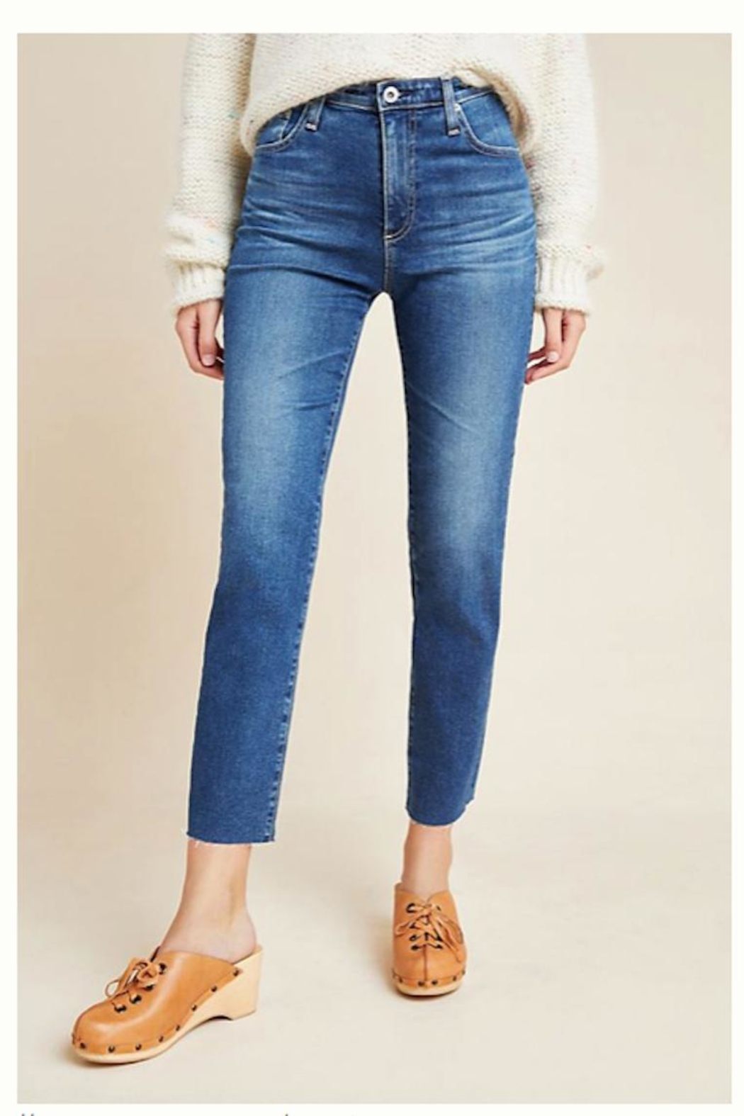 AG Jeans Isabelle White Pants - Front Cropped Image
