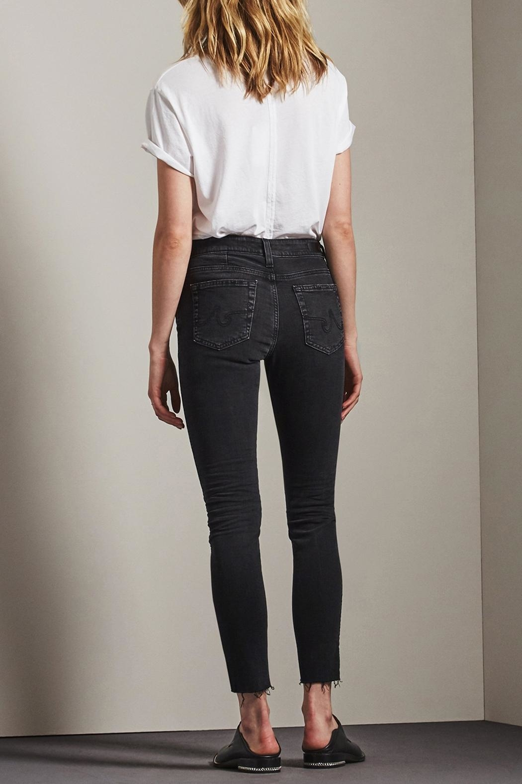 AG Adriano Goldschmied Farrah Skinny Ankle Jeans - Side Cropped Image