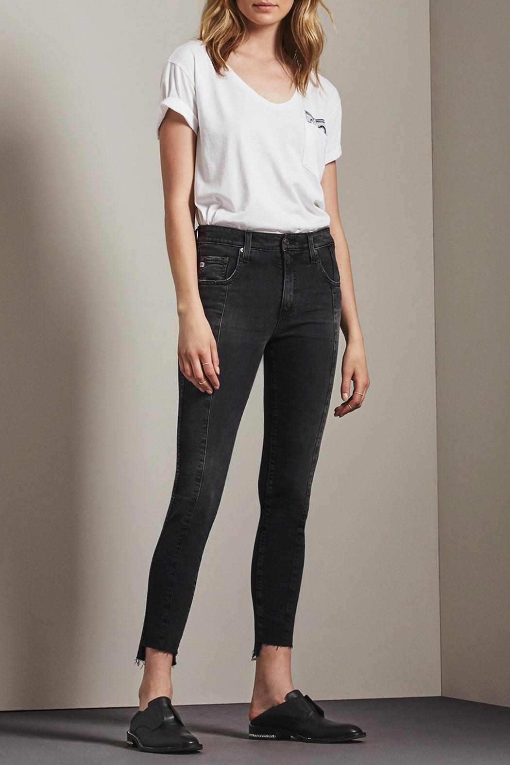 AG Adriano Goldschmied Farrah Skinny Ankle Jeans - Front Cropped Image