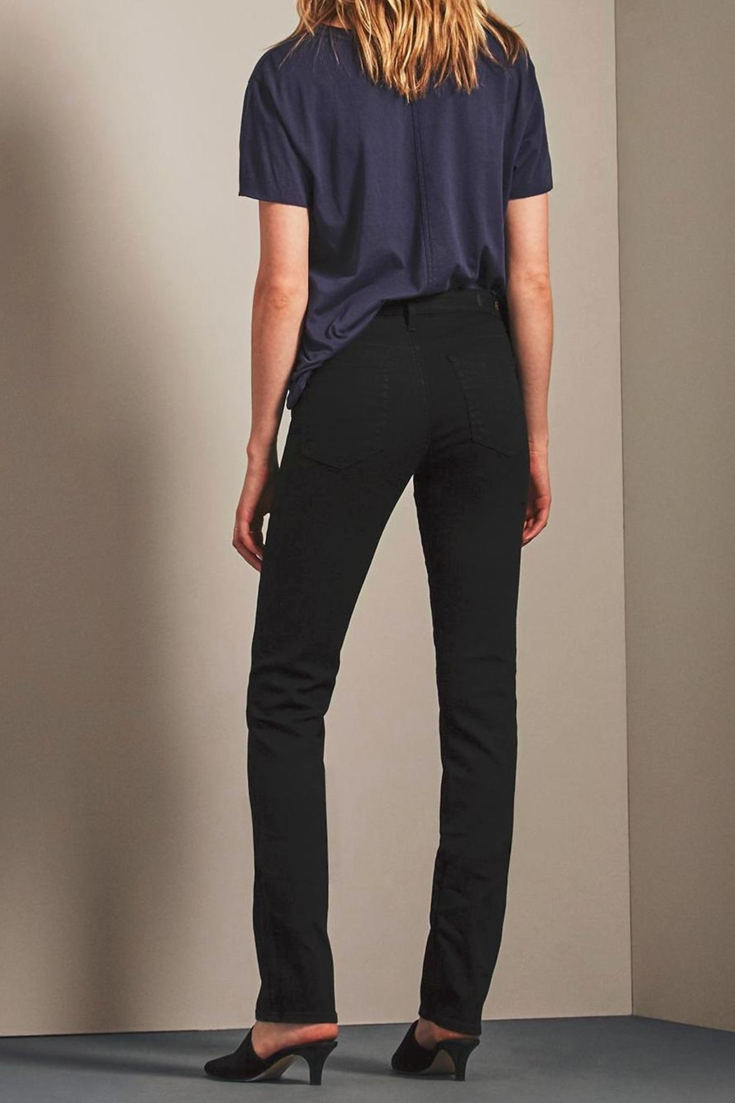 AG Adriano Goldschmied Harper Overdye Black Pants - Side Cropped Image