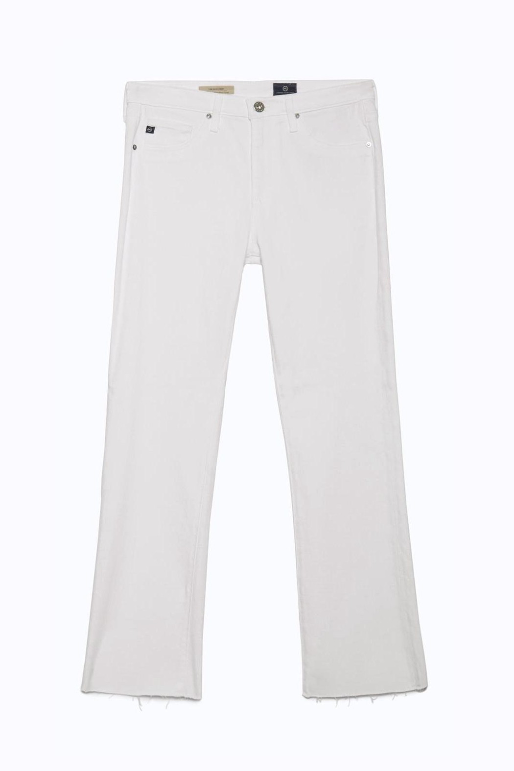 AG Adriano Goldschmied Jodi Crop White - Back Cropped Image