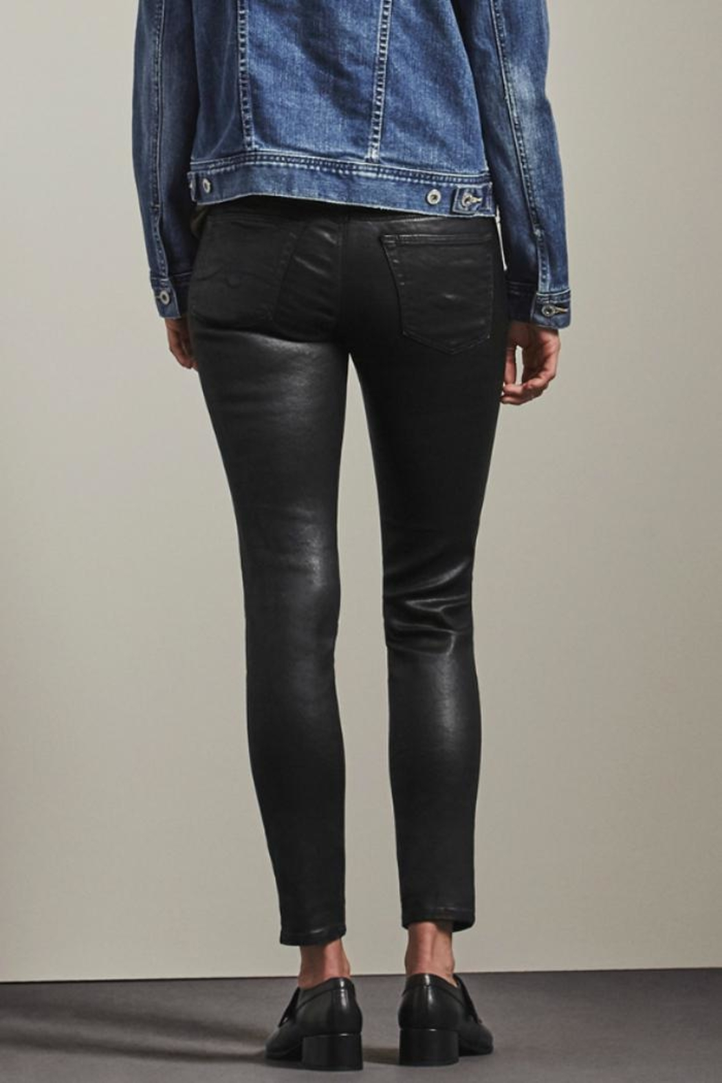 AG Adriano Goldschmied Leatherette Legging Ankle - Side Cropped Image