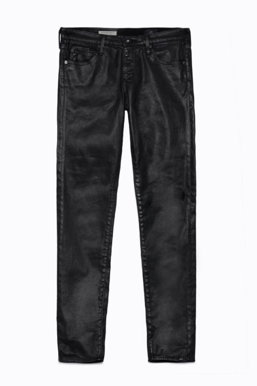 AG Adriano Goldschmied Leatherette Legging Ankle - Back Cropped Image
