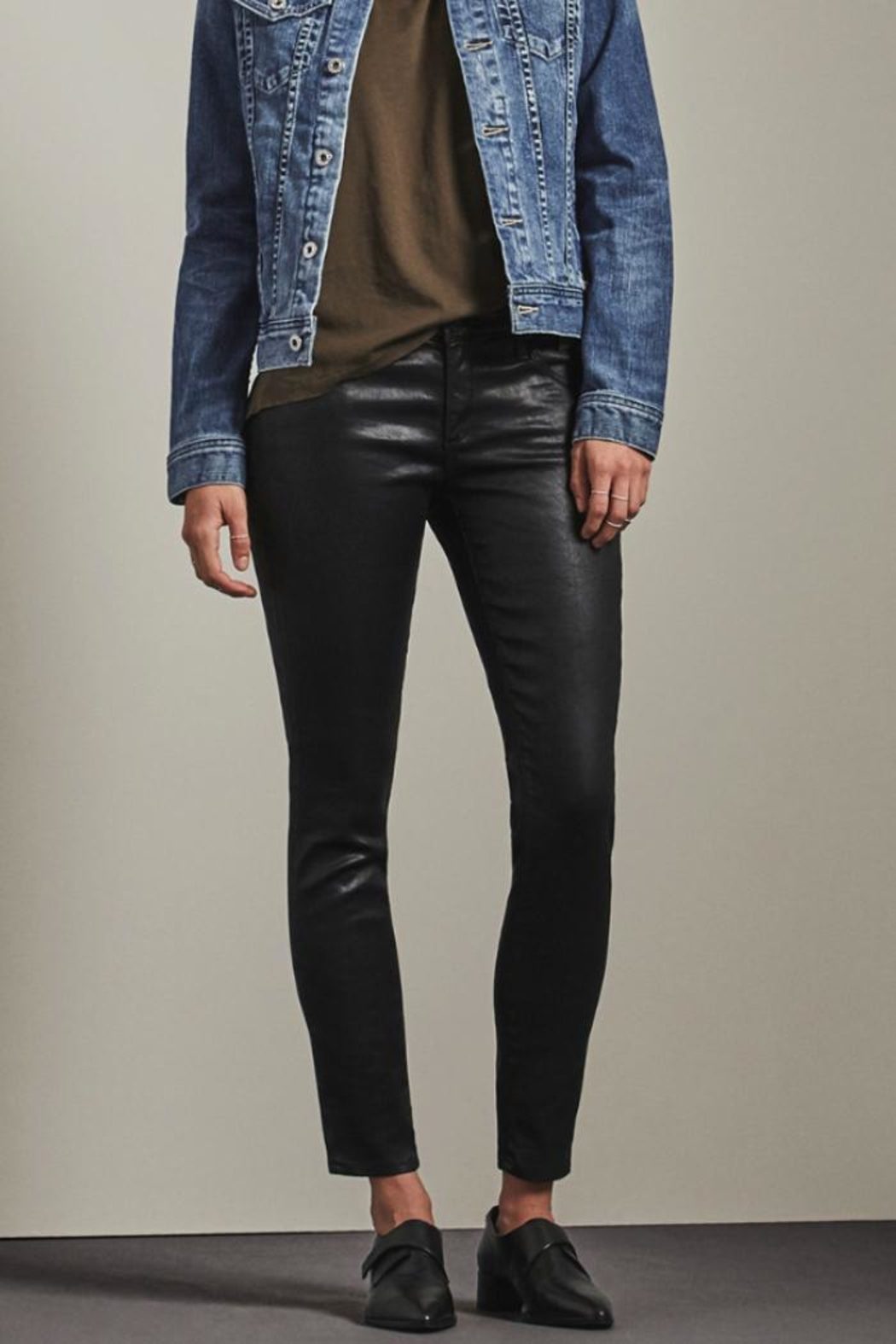 AG Adriano Goldschmied Leatherette Legging Ankle - Main Image