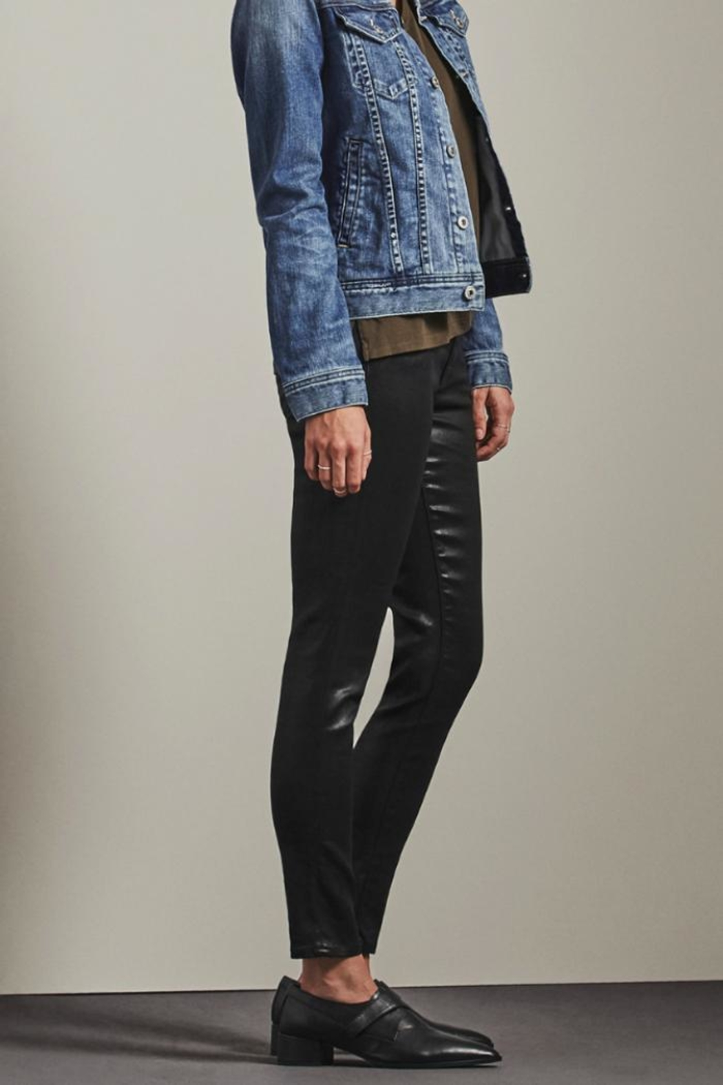 AG Adriano Goldschmied Leatherette Legging Ankle - Front Full Image