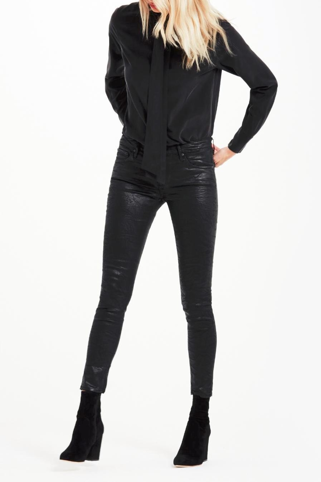AG Adriano Goldschmied Legging-Ankle Crackle Leatherette - Main Image