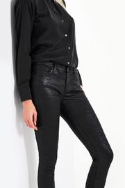 AG Adriano Goldschmied Legging-Ankle Crackle Leatherette - Back cropped