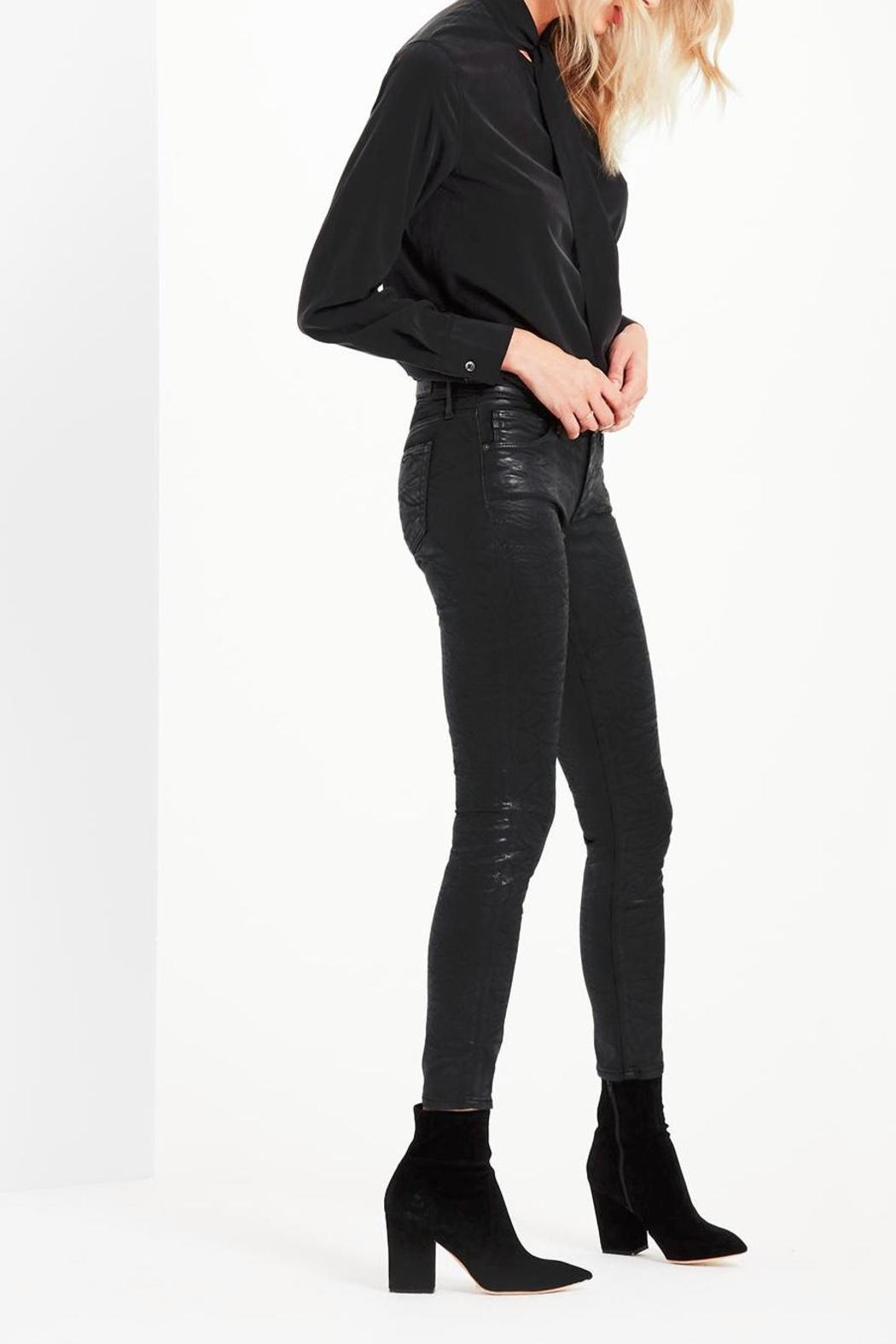 AG Adriano Goldschmied Legging-Ankle Crackle Leatherette - Front Full Image