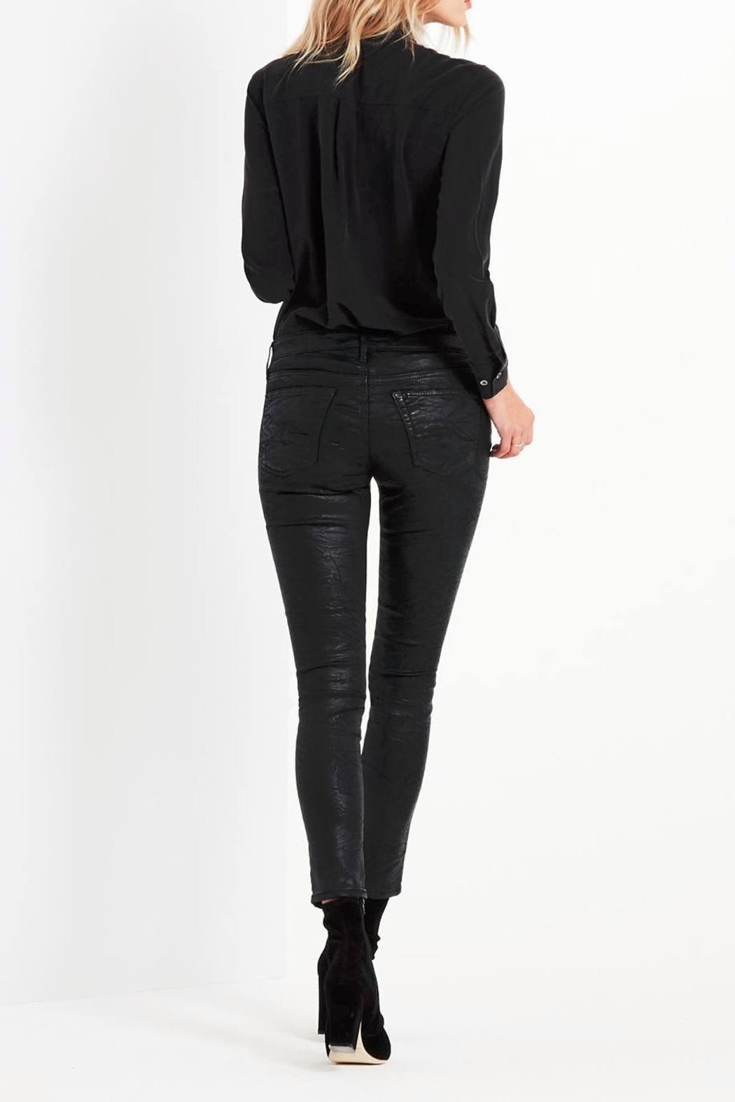 AG Adriano Goldschmied Legging-Ankle Crackle Leatherette - Side Cropped Image
