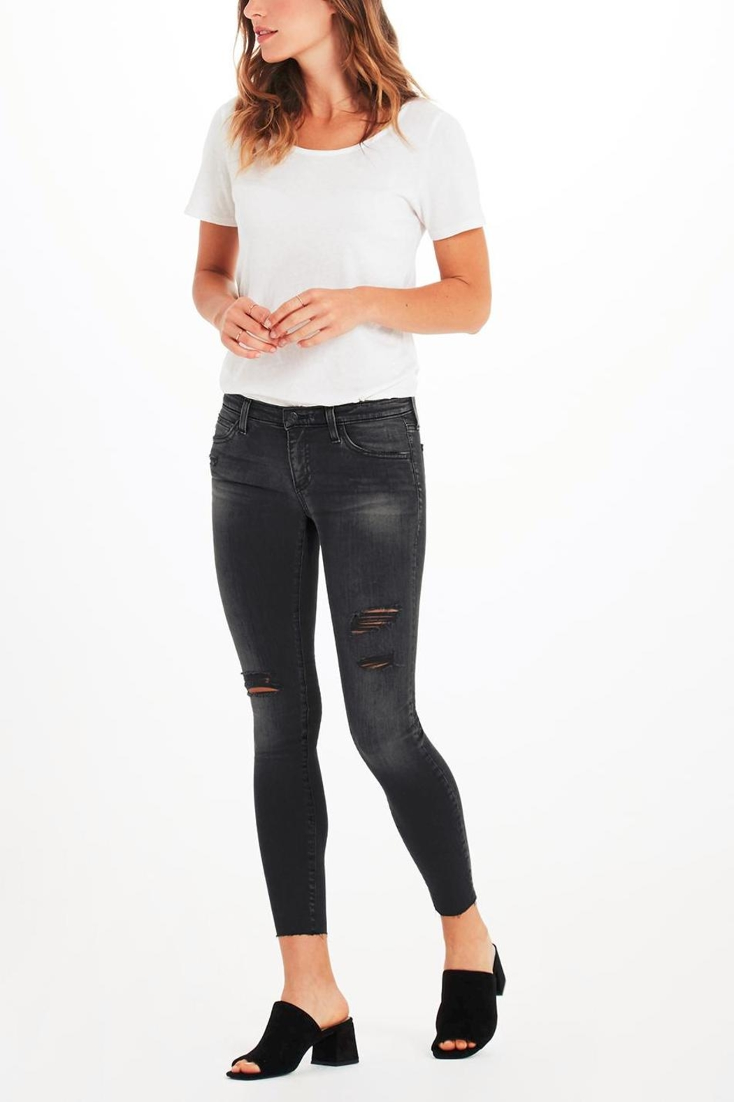 AG Adriano Goldschmied Legging Ankle Eroded - Back Cropped Image