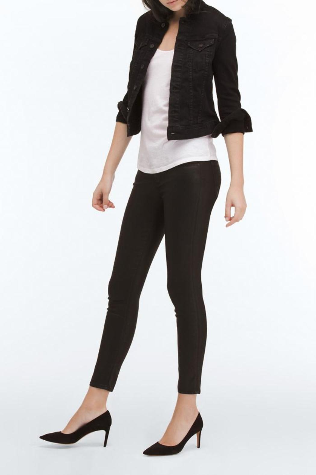 AG Adriano Goldschmied Legging Ankle Leatherettes - Front Full Image