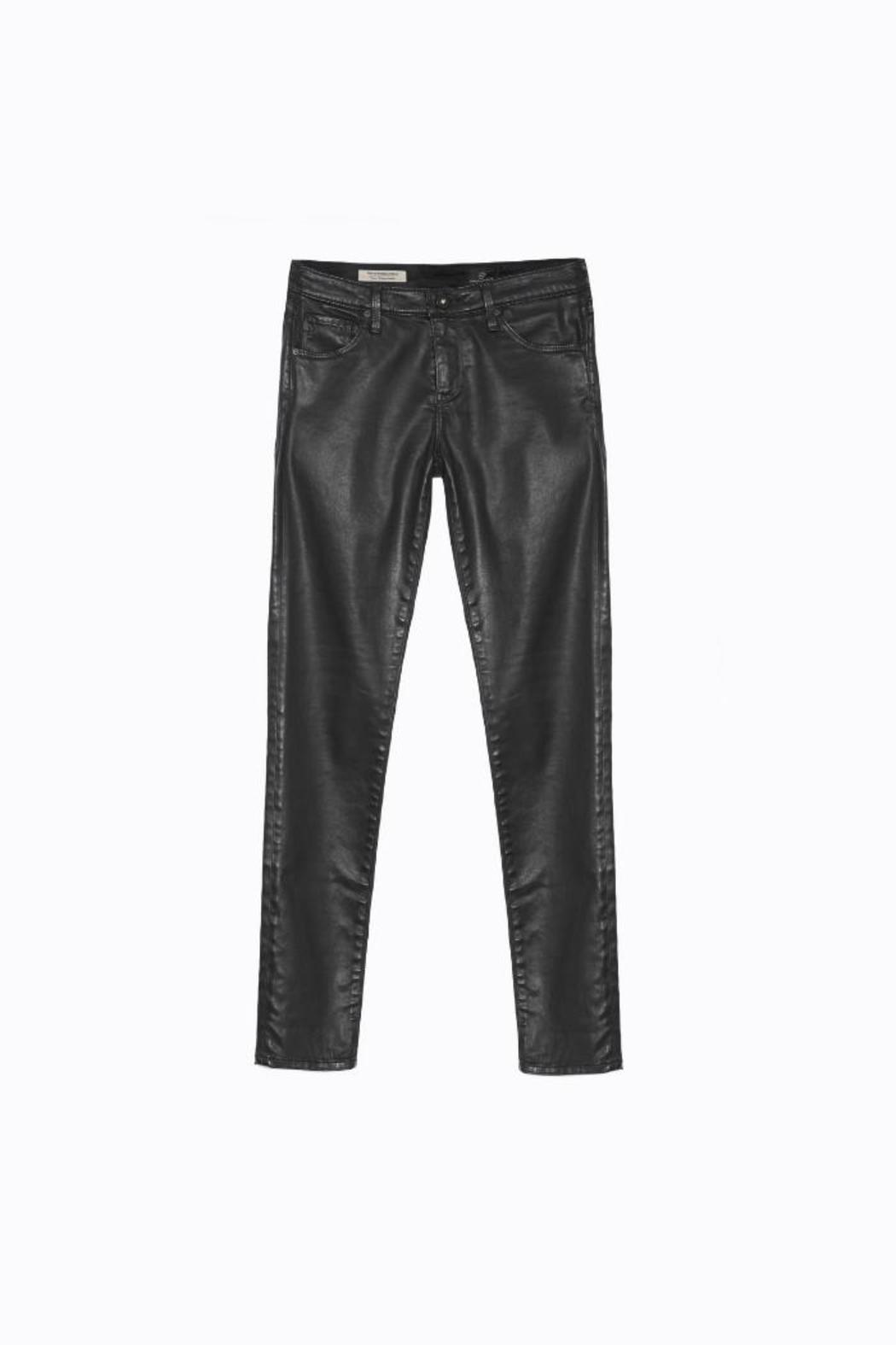 AG Adriano Goldschmied Legging Ankle Leatherettes - Back Cropped Image
