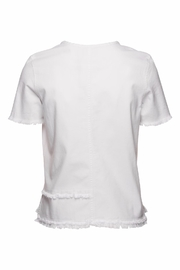 AG Adriano Goldschmied Tawny Raw Tee - Front full body