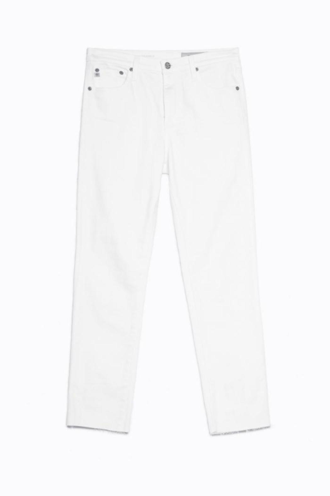 AG Jeans Isabelle White Pants - Back Cropped Image