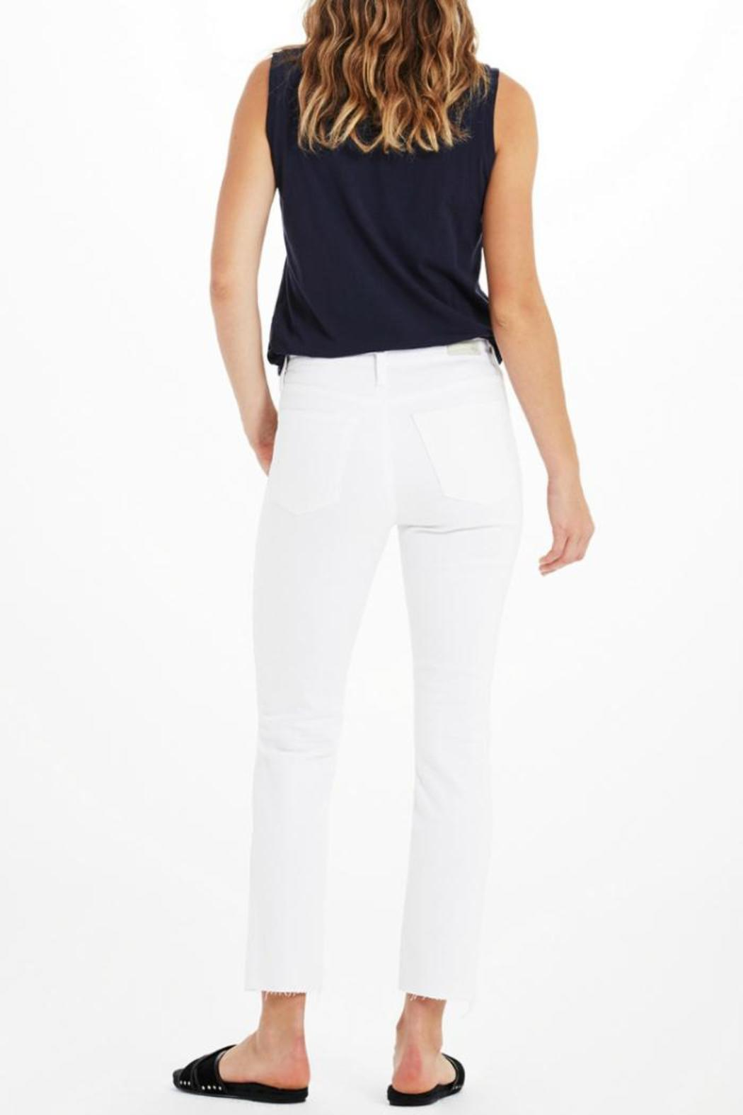 AG Jeans Isabelle White Pants - Side Cropped Image