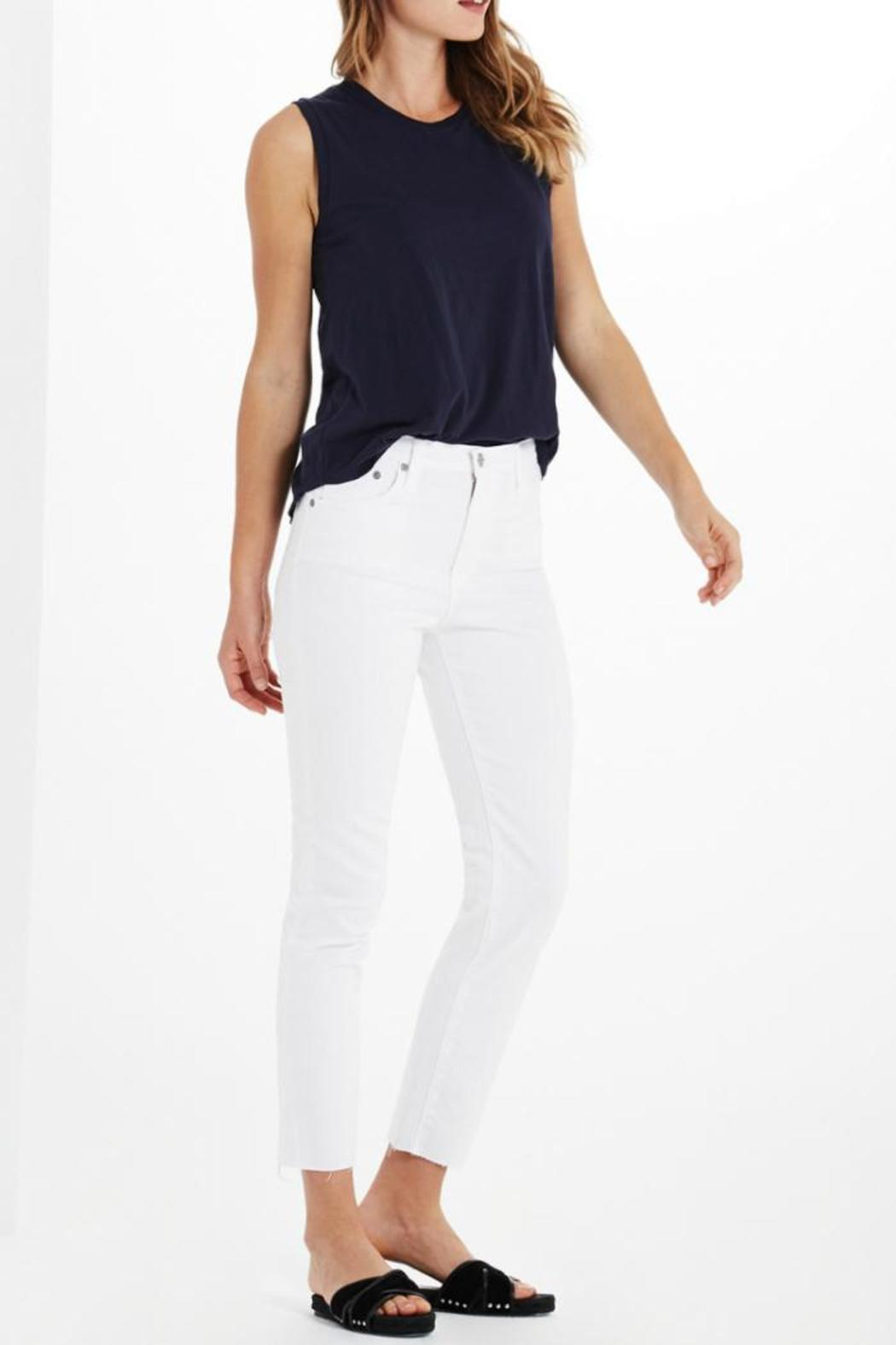 AG Jeans Isabelle White Pants - Front Full Image