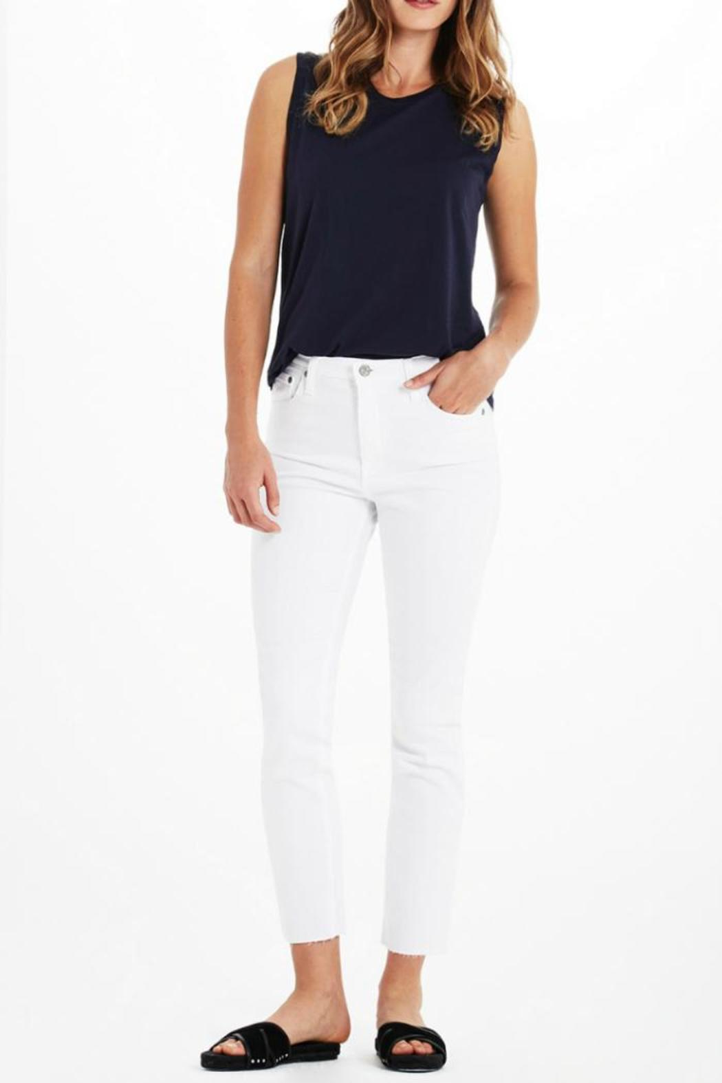 AG Jeans Isabelle White Pants - Main Image