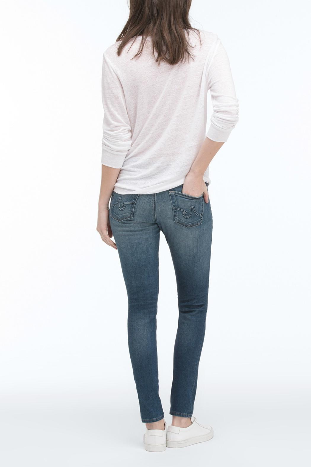 AG Jeans Light-Wash Ankle Skinny - Side Cropped Image