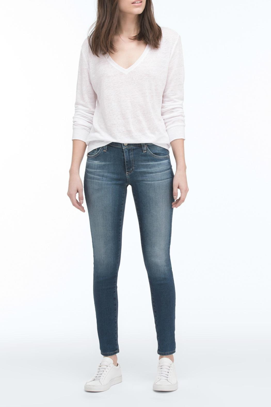 AG Jeans Light-Wash Ankle Skinny - Front Cropped Image
