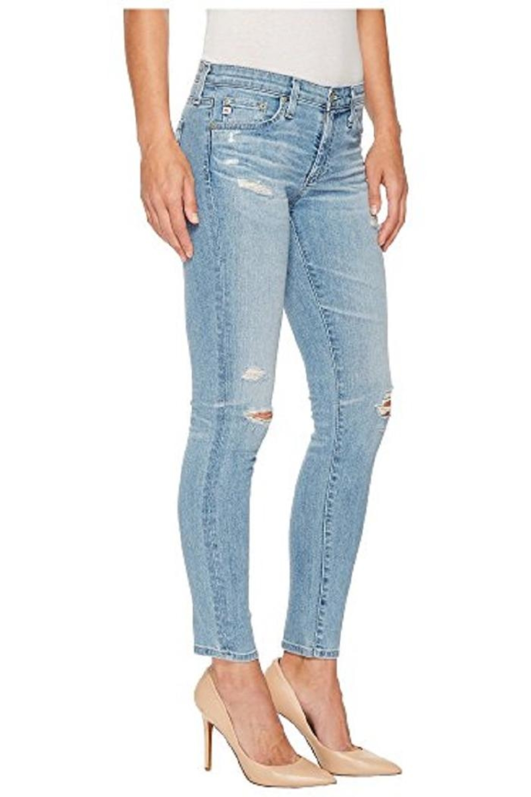 AG Jeans Lowrise Skinny Jean - Side Cropped Image