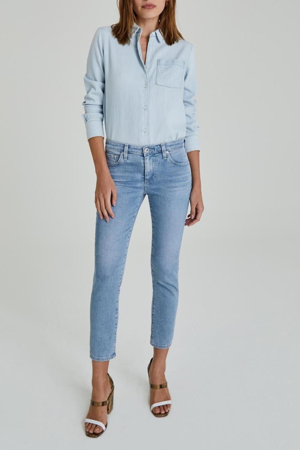 AG Jeans Prima Crop - Front Full Image