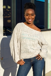 Free People Against the Tide Cable Knit Sweater - Product Mini Image