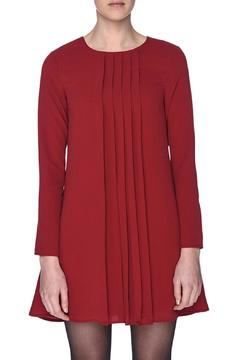 Shoptiques Product: Crimson Pleated Dress