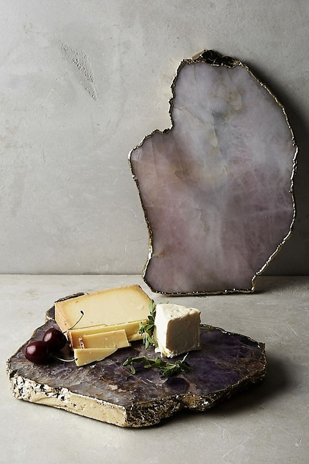 Anthropologie Agate Cheeseboard in Purple - Side Cropped Image