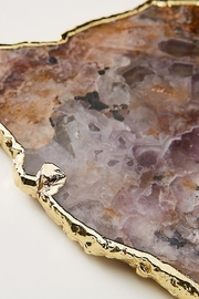 Anthropologie Agate Cheeseboard in Purple - Front full body