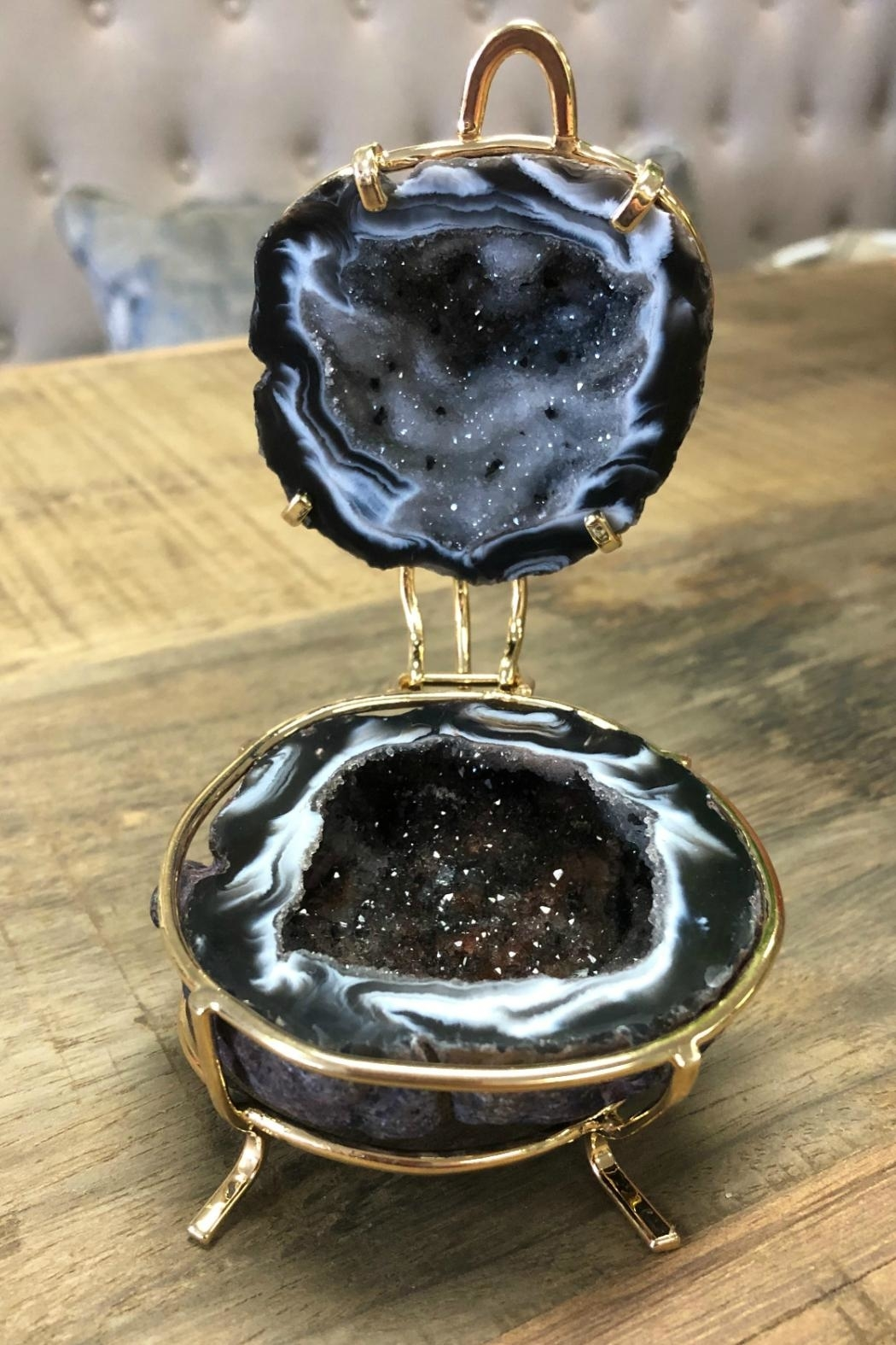 Rock Paradise Agate-Geode Ring Box - Front Cropped Image