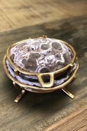 Rock Paradise Agate-Geode Ring Box - Front full body