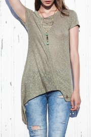 Aggel Khaki Blouse - Product Mini Image