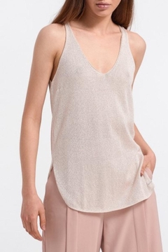 Aggel Lurex V-Neck Tank - Product List Image