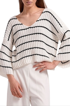 Aggel Mariniere Wide-Sleeve Sweater - Product List Image