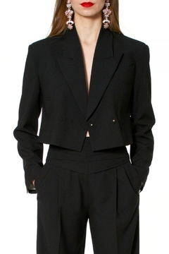 Shoptiques Product: Blazer Giorgia Neutral Black