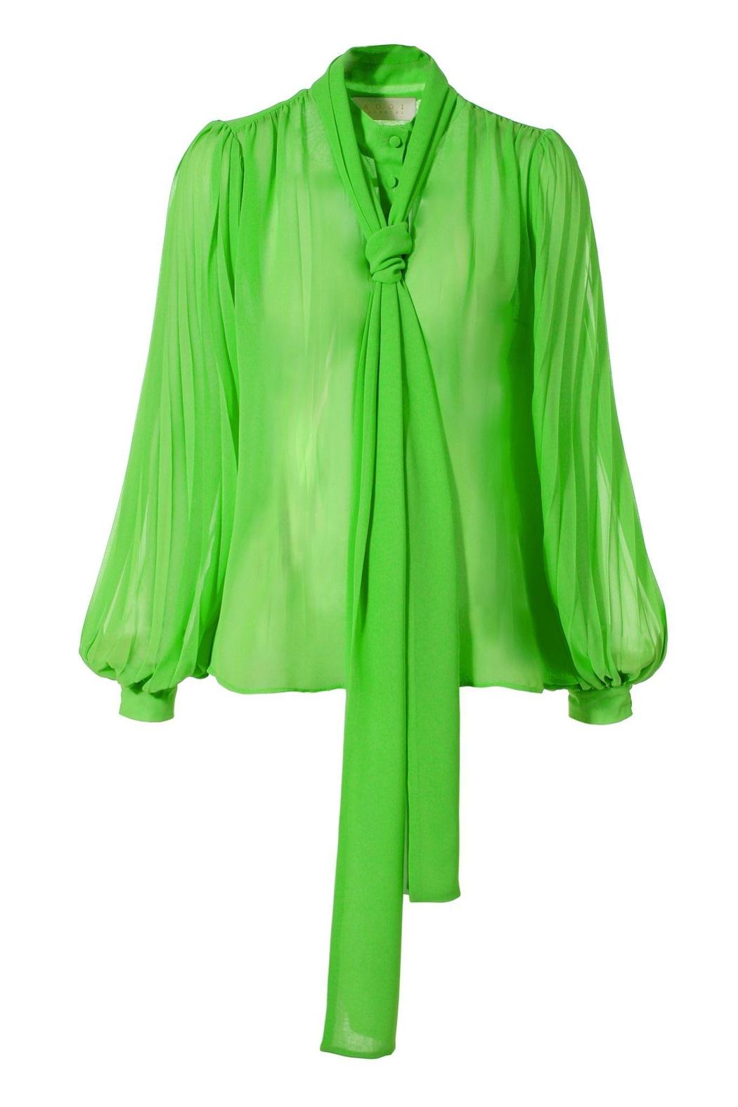 AGGI Blouse Linda Green Flash - Front Full Image