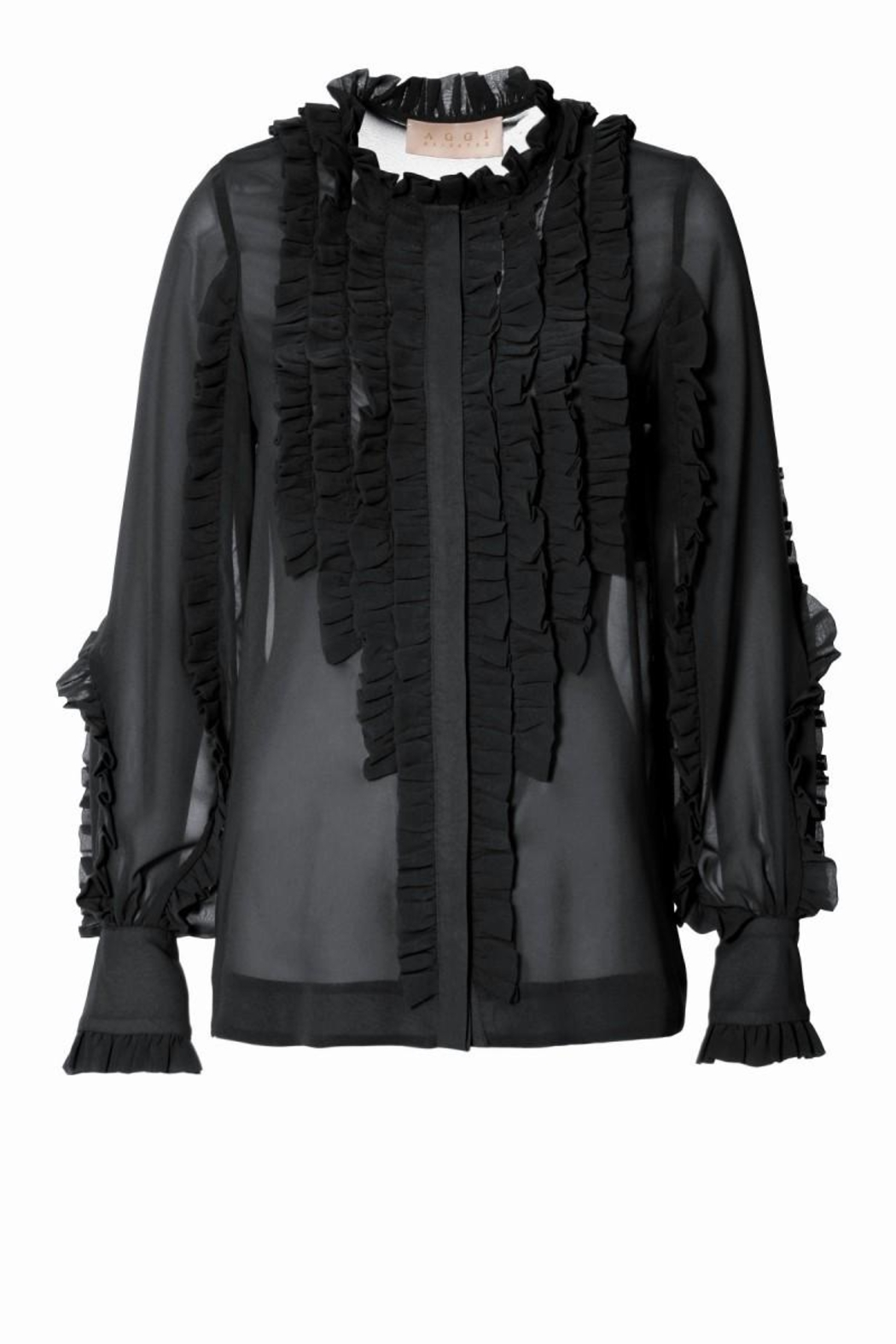 AGGI Blouse Marley Pure Black - Front Full Image
