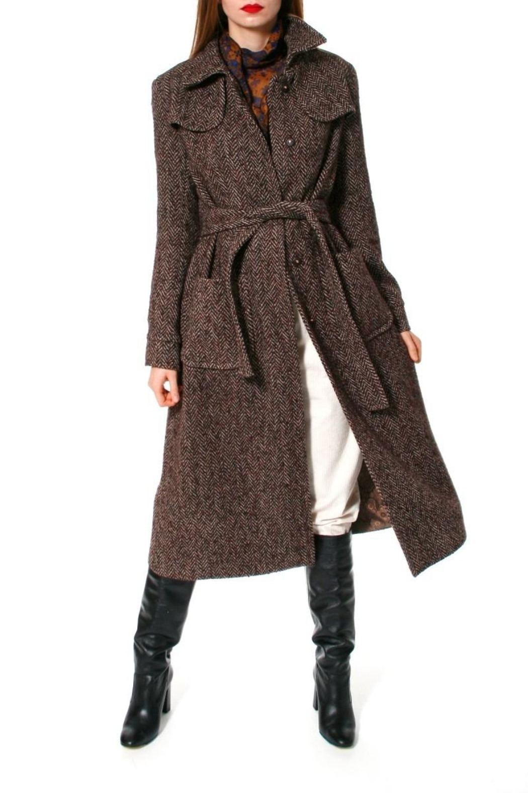 AGGI Coat Meryl Brunette - Side Cropped Image