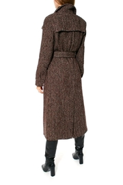 AGGI Coat Meryl Brunette - Back cropped