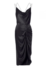 AGGI Dress Ava Glossy Black - Front full body