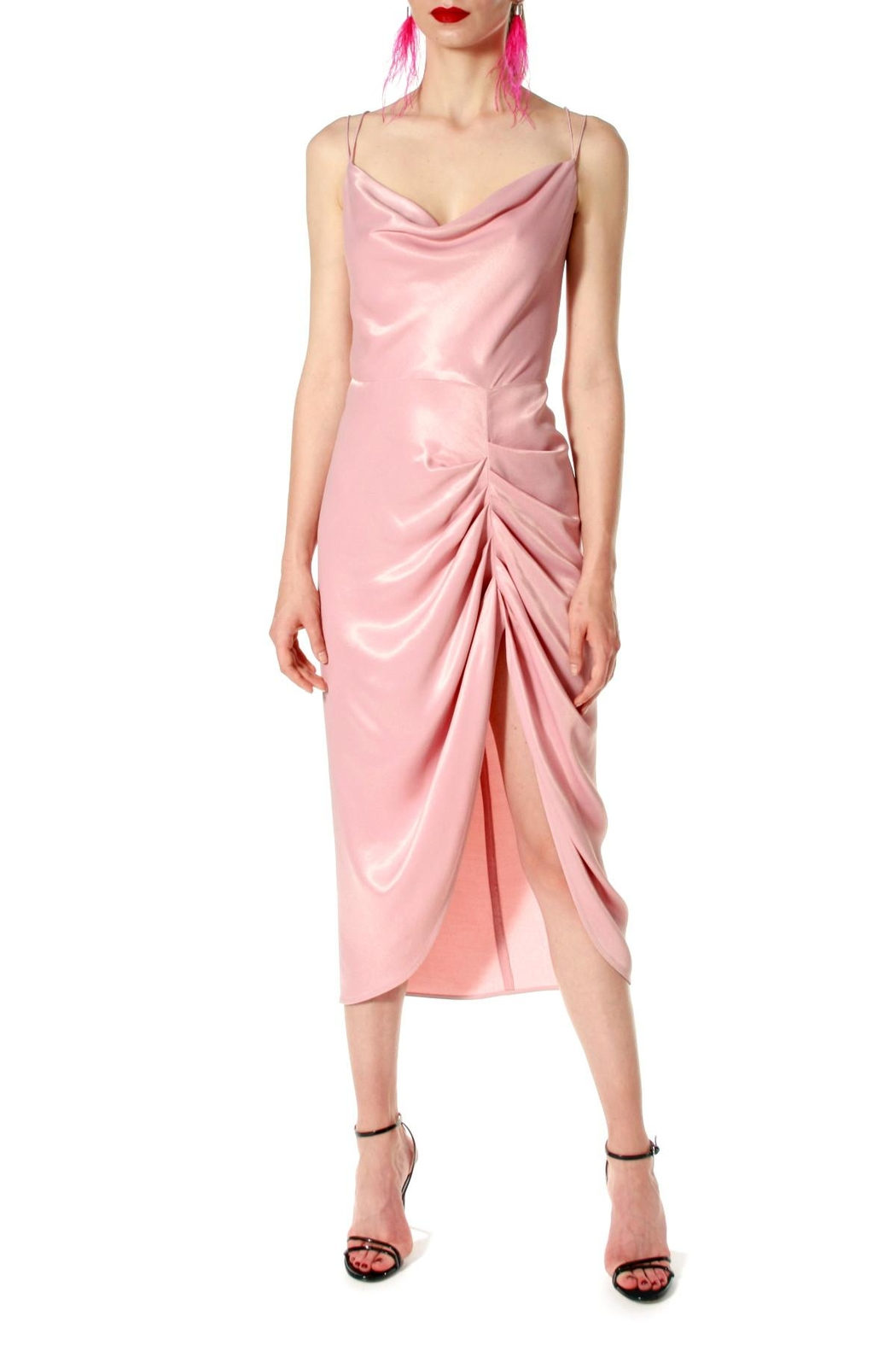 AGGI Dress Ava Pretty In Pink - Back Cropped Image