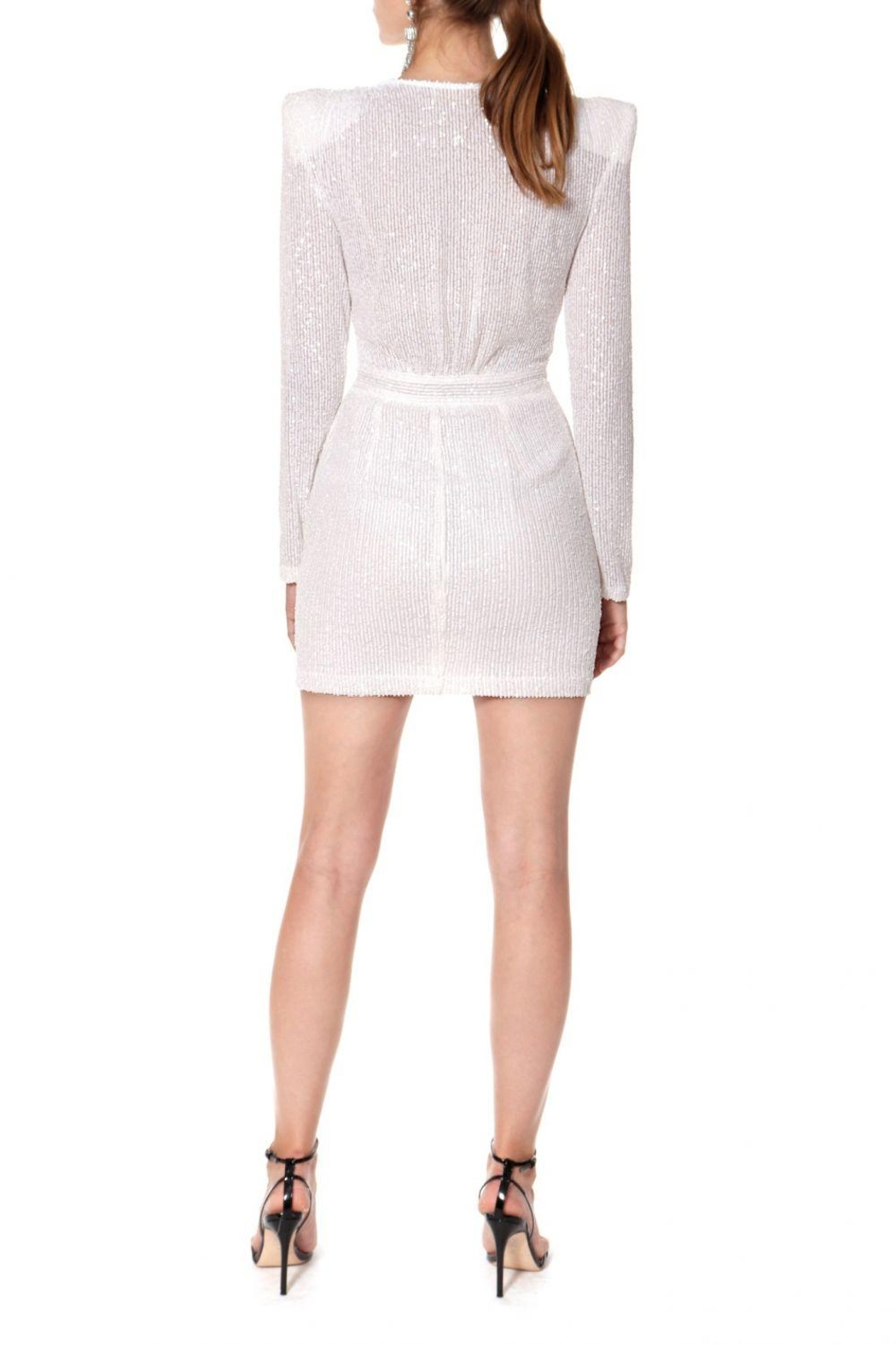 AGGI Dress Jennifer Super White - Back Cropped Image