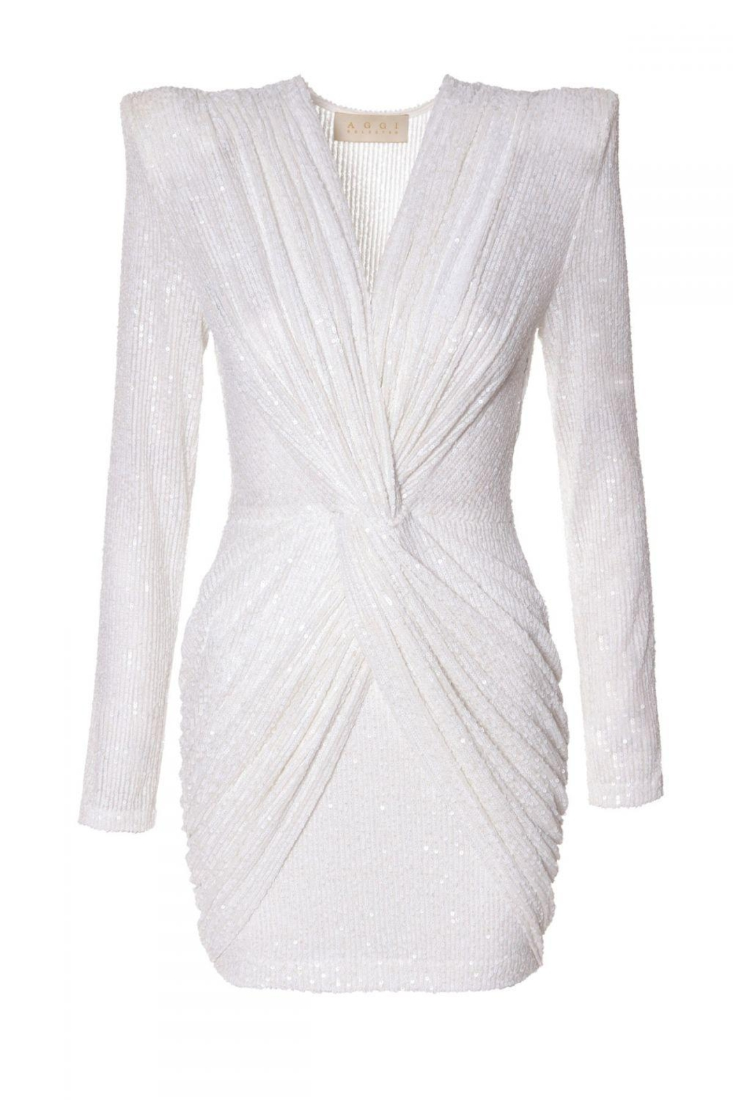 AGGI Dress Jennifer Super White - Front Full Image