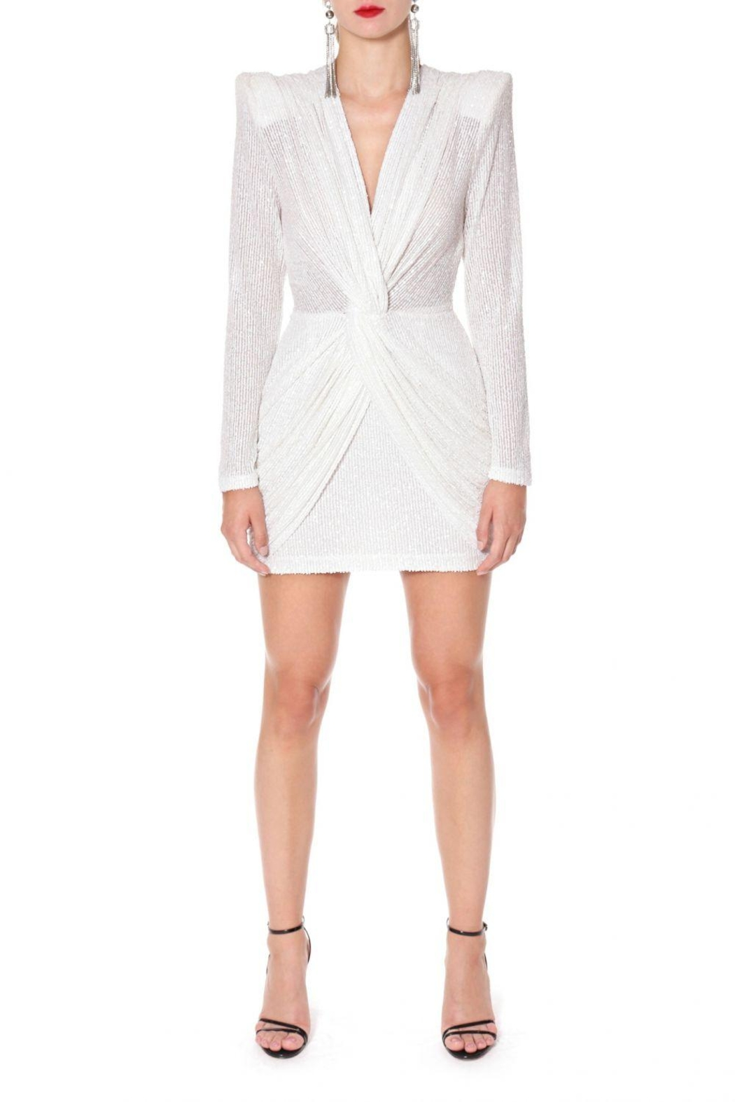 AGGI Dress Jennifer Super White - Side Cropped Image