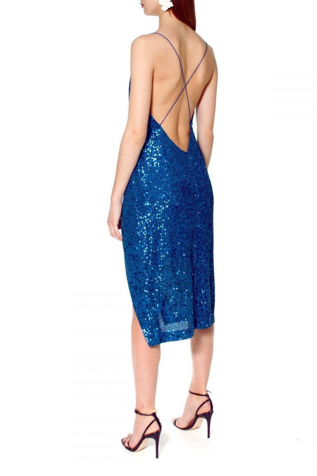 AGGI Dress Kim Brillant Blue - Back Cropped Image