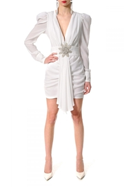 AGGI Dress Krystle White Asparagus - Product Mini Image